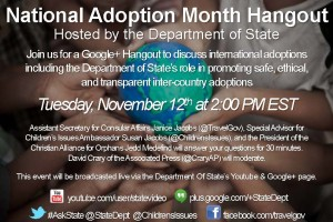 National Adoption Month Hangout